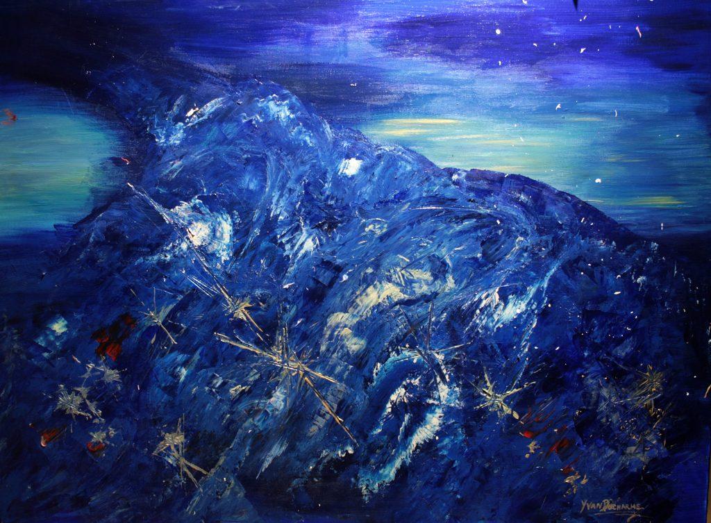 Yvan Ducharme peintre abstrait 270- Tornade de ciel 48x36