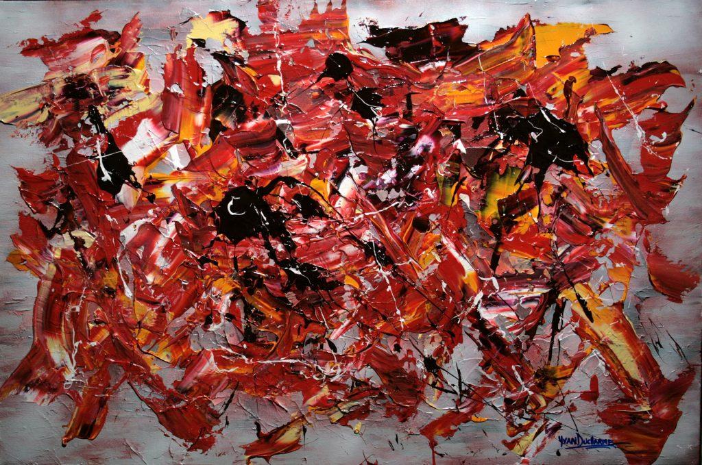 Yvan Ducharme peintre abstrait 274- Pêle-Mêle 36x24