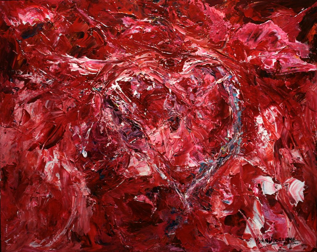 Yvan Ducharme peintre abstrait 278- P.S. I love you 30x24