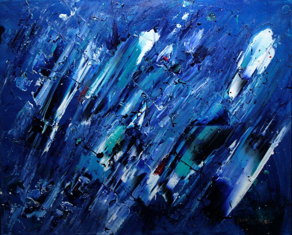 Yvan Ducharme peintre abstrait 281- Le temps, douceurs & douleurs 30x24