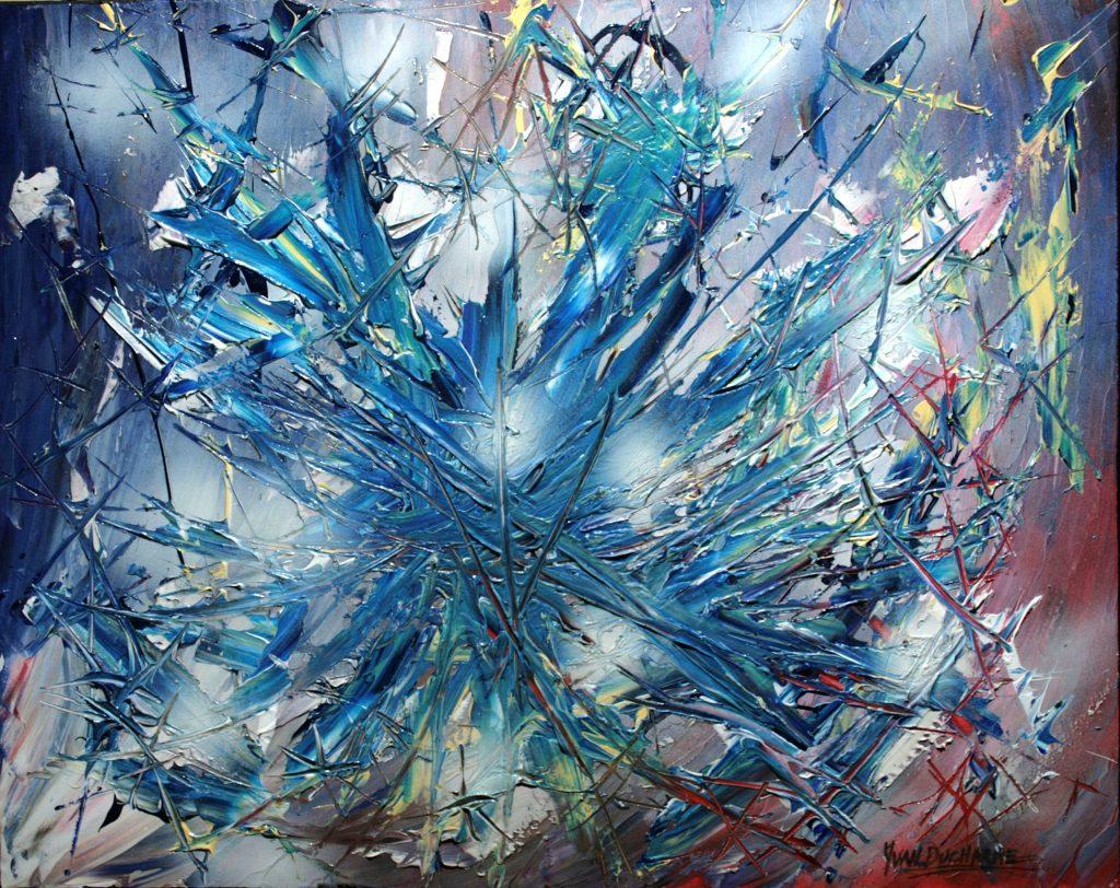 Yvan Ducharme peintre abstrait 284- Eurékâ 30x24