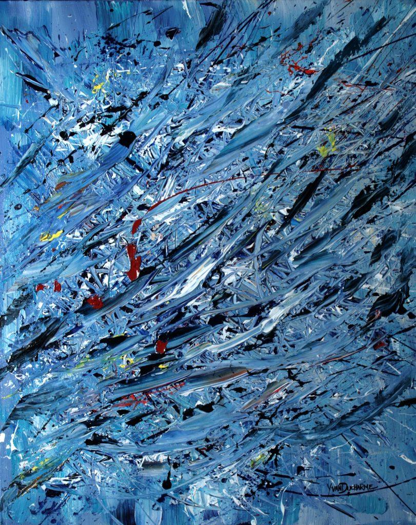 Yvan Ducharme peintre abstrait 286- Les grands élans 30x24