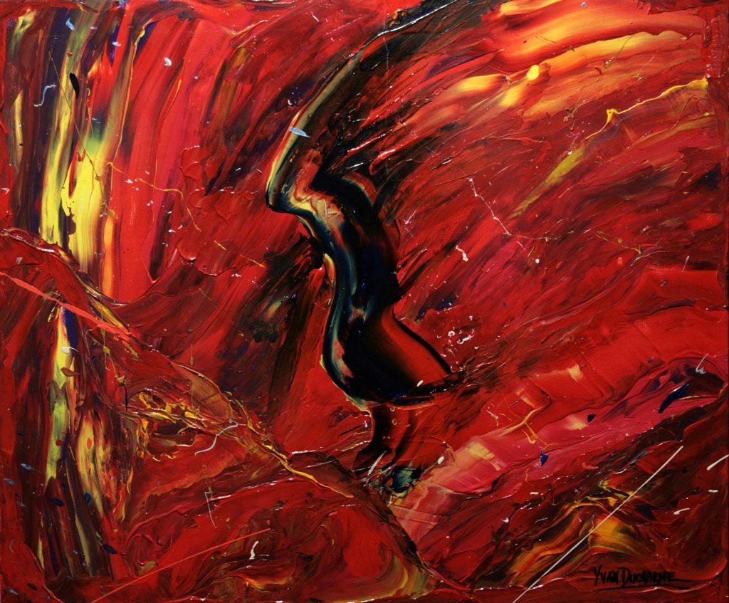 Yvan Ducharme peintre abstrait 291- Batman 24x20