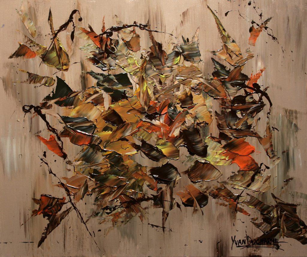 Yvan Ducharme peintre abstrait 298- Cadre d