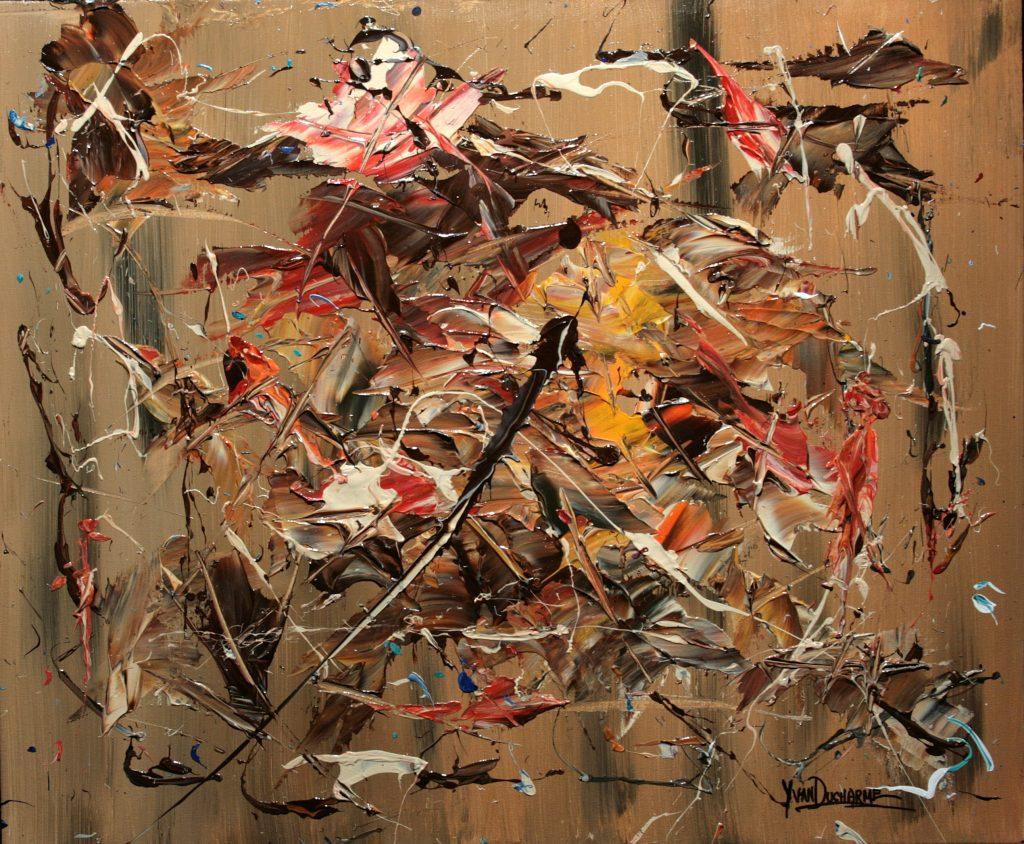 Yvan Ducharme peintre abstrait 299- Intenses souvenirs 24x20