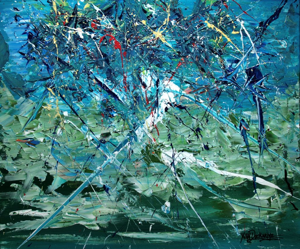 Yvan Ducharme peintre abstrait 301 Artifices des Alpes 24x20