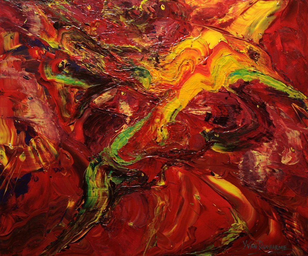 Yvan Ducharme peintre abstrait 304- Les oiseaux du Cap D