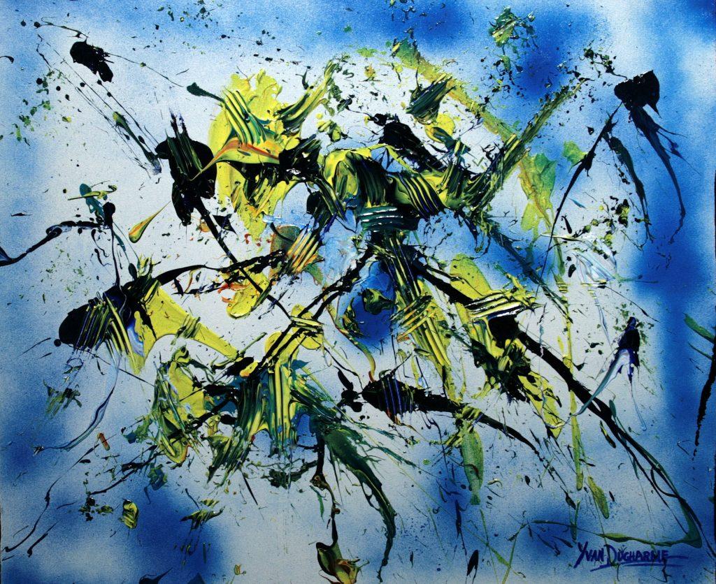 Yvan Ducharme peintre abstrait 311- Arabesque 24x20