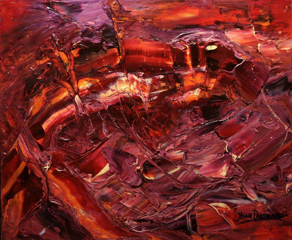 Yvan Ducharme peintre abstrait 323- Bouillonnement d