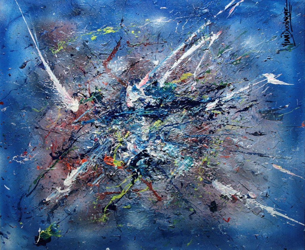 Yvan Ducharme peintre abstrait 325- 24x20