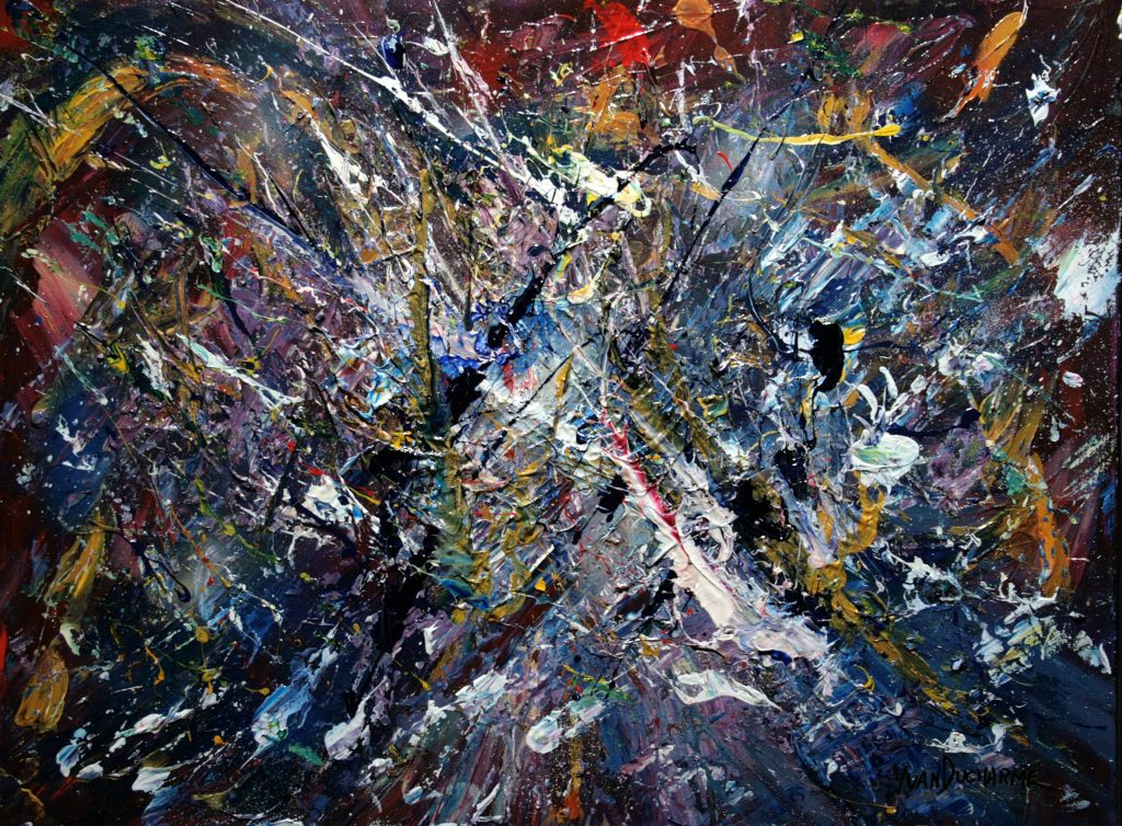 Yvan Ducharme peintre abstrait 330- Un mois dans le cosmos 24x18