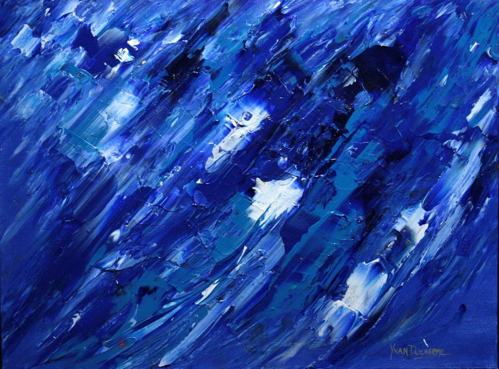 Yvan Ducharme peintre abstrait 333- Blue sky 24x18