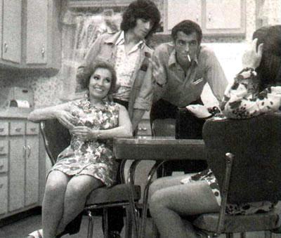 Yvan Ducharme dans le téléroman les berger avec Steve Fiset Claudine chatel et Rita Bibeau en 1970