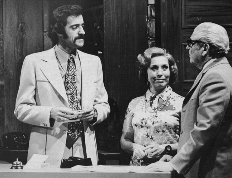Yvan Ducharme dans le téléroman les berger avec Steve Fiset Claudine chatel et Rita Bibeau en 1974