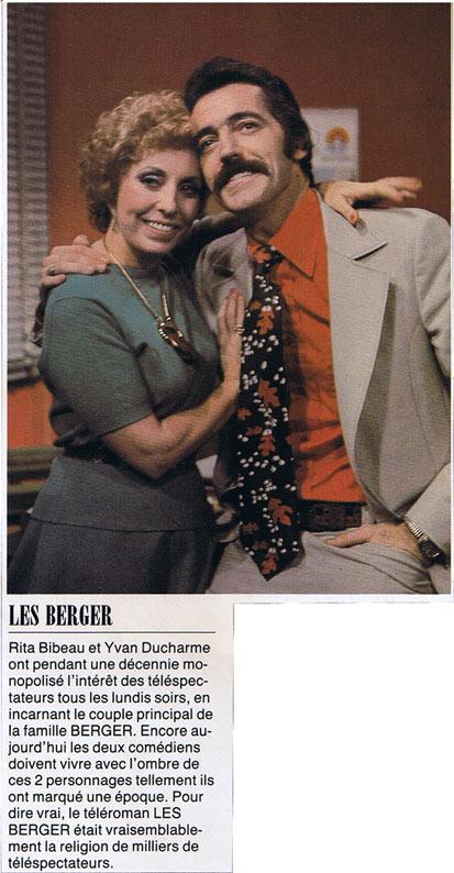 Yvan Ducharme dans le téléroman les berger avec Steve Fiset Claudine chatel et Rita Bibeau en 1975